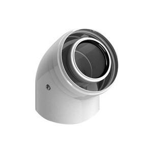 Отвод STOUT 45 градусов диаметр 60/100 м/п PP-FE (SCA-8610-000045)