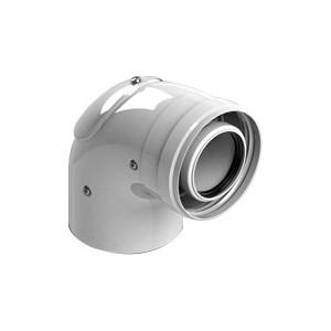Отвод STOUT 90 градусов диаметр 60/100 м/п с ревизией PP-FE (SCA-8610-010090)