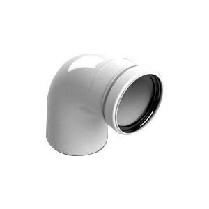 Отвод STOUT 87 градусов диаметр 80 м/п PP-FE (SCA-8080-000090) отвод stout 90 градусов диаметр 60 100 м п pp fe с адаптером совместим с vaillant и ariston sca 8610 230090