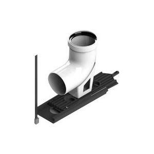 Отвод STOUT 87 градусов диаметр 80 м/п PP-FE с опорой (SCA-8080-121090)