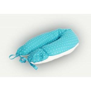 Фотография товара подушка для беременных Mamas Helper (голубая с белым горошком) ART 0131 (490977)