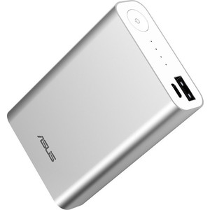 Внешний аккумулятор Asus ZenPower ABTU005 10050mAh silver мобильный аккумулятор asus zenpower abtu011 li ion 10050mah 2 4a золотистый 2xusb
