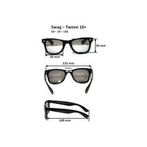 Cолнцезащитные очки Real Kids для тинейджеров Wag черный/оранжевый (10WGBKOR)