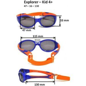 Cолнцезащитные очки Real Kids детские Explorer черный/красный 2-4 года (4EXPBKRD)