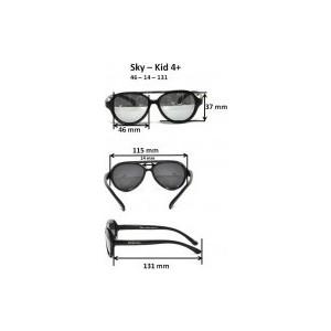Cолнцезащитные очки Real Kids детские Авиатор черные (4SKYBLK) цена