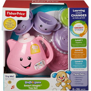 Развивающая игрушка Fisher Price набор для чаепития с технологией smart stages (CJW59)