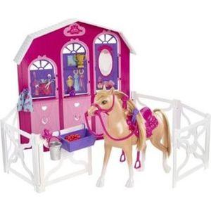 Игровой набор Mattel Barbie и сестры в сказке о пони конюшня и лошадь (Y7554)