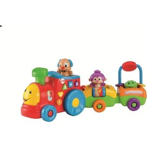 Развивающая игрушка Fisher Price Смейся и учись паровозик ученого щенка (CDF60) fisher price базовый паровозик thomas&friends