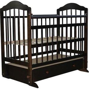 Кроватка Briciola Briciola-11 маятник поперечный ящик автоматическая темная (BR1107) g86 01 f1l ящик подкроватный для 1сп и 2сп кроватей шатура патрисия темная