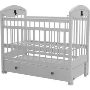 Кроватка Briciola Briciola-3 маятник продольный ящик автоматическая белая (BR0301) кроватка briciola briciola 5 маятник поперечный ящик автоматическая слоновая кость br0511