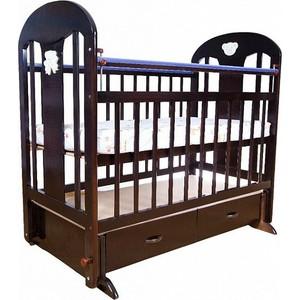 Кроватка Briciola Briciola-5 маятник поперечный ящик автоматическая темная (BR0507) кроватка briciola briciola 5 маятник поперечный ящик автоматическая слоновая кость br0511