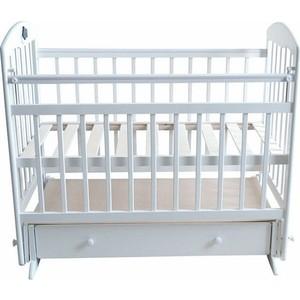 Кроватка Briciola Briciola-8 маятник поперечный ящик автоматическая белая (BR0801) кроватка briciola briciola 5 маятник поперечный ящик автоматическая слоновая кость br0511