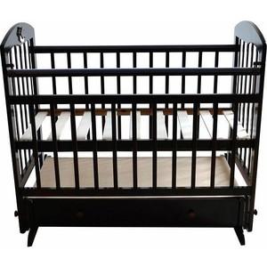 Кроватка Briciola Briciola-8 маятник поперечный ящик автоматическая темная (BR0807) кроватка briciola briciola 5 маятник поперечный ящик автоматическая слоновая кость br0511