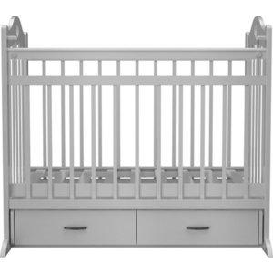 Кроватка Briciola 12 маятник поперечный ящик автоматическая белая (BR1201)