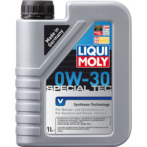 Моторное масло Liqui Moly Special Tec V 0W-30 1 л 2852 liqui moly polster schaum reiniger 0 3 л