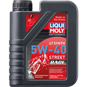 Моторное масло Liqui Moly Racing Synth 4T 5W-40 1 л 2592 моторное масло motul 300 v 4t fl road racing 10w 40 4 л
