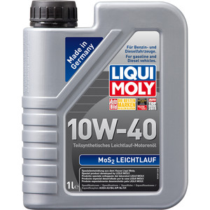Моторное масло Liqui Moly MoS2 Leichtlauf 10W-40 1 л 1930 моторное масло liqui moly diesel synthoil 5w 40 1 л 1926