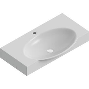 Раковина мебельная SANITA LUXE Infinity 76 см, мебельная с отверстием для смесителя (23397) раковина sanita luxe art раковина подвесная art