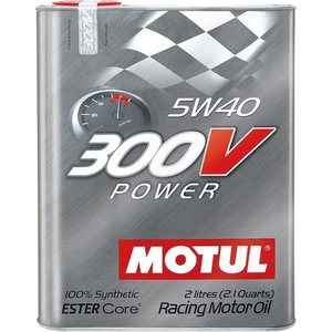 Моторное масло MOTUL 300 V POWER 5W-40 2 л моторное масло motul 300v chrono 10w 40 2 л