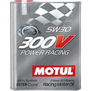 Моторное масло MOTUL 300 V POWER RACING 5w-30 2 л моторное масло motul power lcv ultra 10w 40 5 л