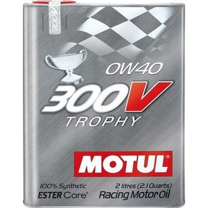 Моторное масло MOTUL 300 V TROPHY 0W-40 2 л моторное масло motul 300 v 4t fl road racing 10w 40 4 л