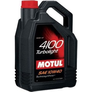 Моторное масло MOTUL 4100 Turbolight 10w-40 4 л моторное масло motul 5100 4t 10w 40 2 л