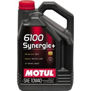Моторное масло MOTUL 6100 Synergie Plus 10W-40 4 л моторное масло motul 300 v 4t fl road racing 10w 40 4 л