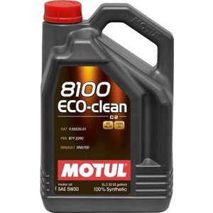 Моторное масло MOTUL 8100 Eco-clean 5w-30 5 л моторное масло motul 8100 eco nergy 0w 30 5 л