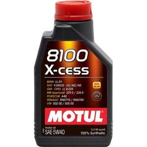 Моторное масло MOTUL 8100 X-cess 5w-40 1 л моторное масло motul power lcv ultra 10w 40 5 л