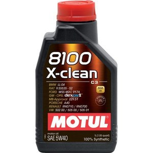 Моторное масло MOTUL 8100 X-Clean 5W-40 1 л моторное масло motul power lcv ultra 10w 40 5 л