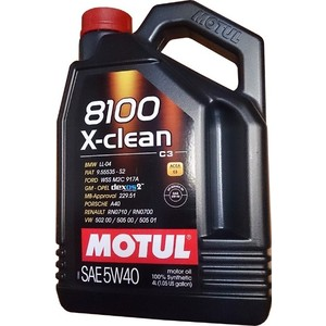 Моторное масло MOTUL 8100 X-Clean 5w-40 4 л моторное масло motul power lcv ultra 10w 40 5 л