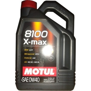Моторное масло MOTUL 8100 X-MAX 0W-40 4 л моторное масло motul 300 v 4t fl road racing 10w 40 4 л