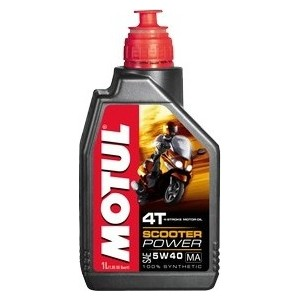 Моторное масло MOTUL Scooter Power 4T 5W-40 1 л моторное масло motul 300 v 4t fl road racing 10w 40 4 л