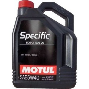 Моторное масло MOTUL Specific 505.01 5w-40 5 л масло моторное motul specific dexos2 синтетическое 5w 30 5 л
