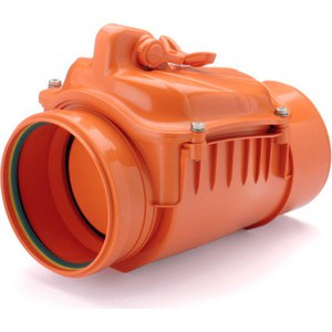 Клапан Насхорн обратный 110 красный клапан обратный канализационный наружный 110 мм