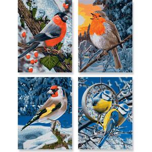 Раскраска Schipper 4 картины Птицы зимой (9340661)