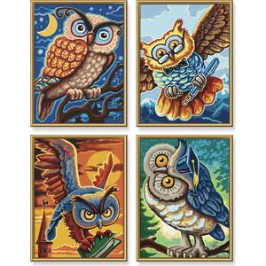 Раскраска Schipper 4 картины Совы мудрости (9340701)