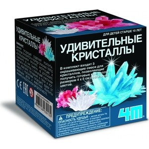 Опыты 4M Удивительные кристаллы Мультицвет(00-03913)