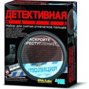 Конструктор 4M Детективная наукадля снятия отпечатков пальцев (00-03248)