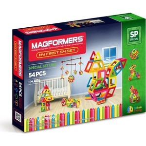 Конструктор Magformers My First MagrorMers 54 (63108) my first gruffalo who lives here lift the flap