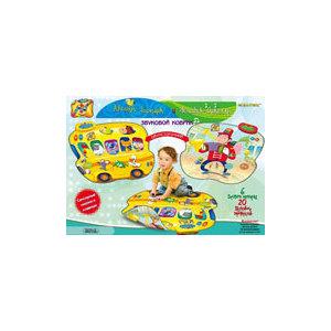 Интерактивная игра ЗНАТОК Звуковой коврик Автобус-зоопарк и человек-оркестр (SLW9821)
