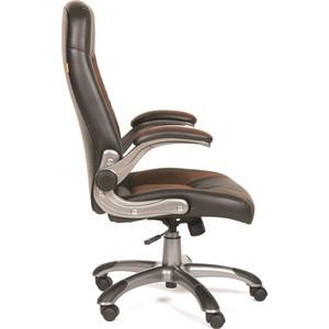 Офисное кресло Chairman 439 экопремиум черный+микрофибра черный/коричневый от ТЕХПОРТ