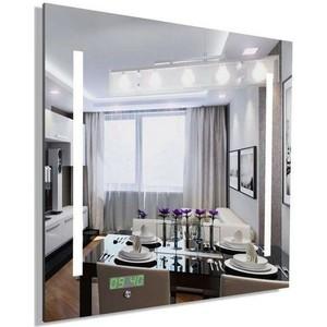 Зеркало Dubiel Vitrum с внутренеей подсветкой и часами, 65х65 (УТ000000876)