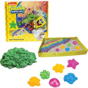 Космический песок 1Toy Губка Боб зелёный 1 кг набор песочница и формочки Т58201 космический песок sps01 набор веселая кондитерская 1 кг песочница формочки