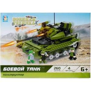 Конструктор 1Toy военная техника боевой танк 260дет Т57023 1toy линкор военная техника