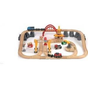 Brio Грузовая железная дорога Люкс из 54 элементов (33097) железная дорога brio классика делюкс 25 эл 45х8х27см кор