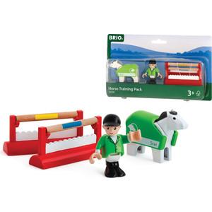 Фотография товара brio набор для тренировки лошадки с 2 барьерами, 1 фигигрка и попона (33795) (499608)