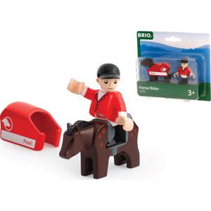 Brio лошадка с попоной и всадник (33793) машинки brio погрузчик с подъемником и фигуркой brio