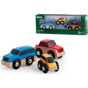 Brio Три деревянные машинки с магнитами (33759)