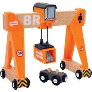 Brio Портовый кран с магнитом, кабиной и вагончиком с грузом (33732) brio кантри